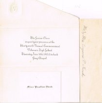Image of Senior Class Invitation Delaware High School 1915