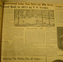 Image of Greenwood Lake article June 24 1958