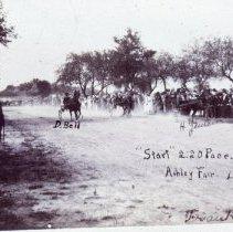 Image of 1912 Horse Race — Ashley, Ohio -