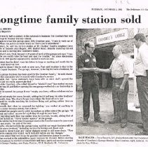 Image of Coonfare Garage sold clipping
