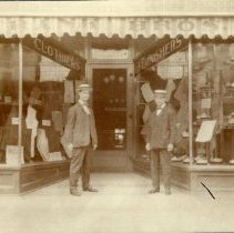Image of Frank Brothers in front of their Frank & Brothers Clothing Store - Delaware