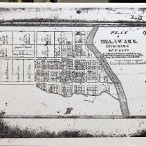 Image of Copy of the 1833 Delaware Plat, includes more text