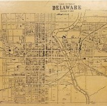 Image of Replica of 1858 Plan of the town of Delaware