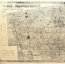 Image of Copy of 1849 map of Delaware County and environs.