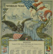 Image of WWI Roster Comp. K, 166 Infantry, 83 Brigade, 42 Division