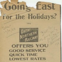 Image of Going East Ad 1907