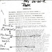 Image of Ball Park Deed