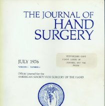 Image of Cover of First Issue of JHS