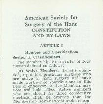 Image of 1960's era Bylaws, 2