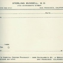 Image of Sterling Bunnell's Prescription Pad