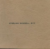 Image of Sterling Bunnell's Prescription Pad, Cover