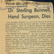 Image of Obituary of Dr. Sterling Bunnell