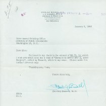 Image of Bunnell's Request for copy of Surgery in World War II