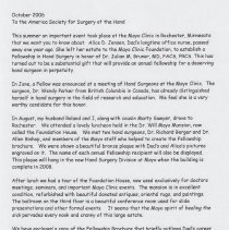 Image of Letter regarding Dr. Julian Bruner