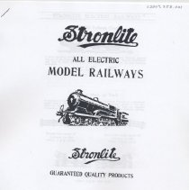 Image of Stronlite All Electric Model Railways - Stronlite all electric model railways.  O gauge model trains of  Japan which imitate the trains of Hornby and British manufacturers
