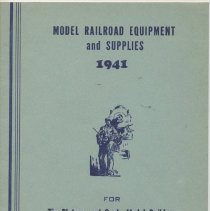 Image of Model Lumber Company Catalog  1941 - Model railroad equipment and supplies for tinplaters and scale model builders, O, Standard and OO gauges.  1941.  Cars and lumber.