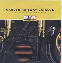 Image of Brawa Garden Railway Catalog 2005 - Brawa Garden Railway Catalog in G scale for 2005.  German company. In English.   German livery locomotive and cars.