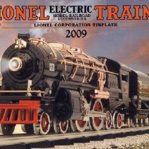 Image of Lionel Corporation Tinplate Catalog by MTH  2009 - Lionel Corporation Tinplate Catalog.  Formerly Tinplate Traditions.  Produced by MTH Electric Trains.  Lionel reporoduction trains and accessories. O and Standard Gauges.  Also, American Flyer reproduction set.  President's Special Set, Blue Comet, UP Streamliner, Burlington Zephyr, the Lionel Brute.