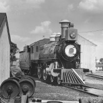 Image of Hello Dolly - Strasburg #1223 (Ex Pennsylvania 1223, painted as NYC & HR RR for the filming of the film Hello Dolly.  Pictures taken at the East Strasburg staion at Strasburg, PA.  P2000.1.106, 107 & 108 are of the same subject.