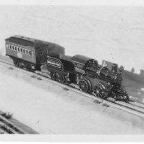Image of Clockwork Train Set - A Hafner clockwork train set.