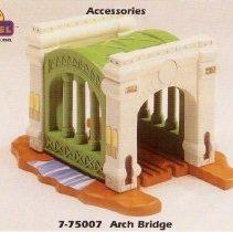 Image of Little Lionel Arch Bridge - Little Lionel Accessories 7-75007 Arch Bridge.   P03.11.178a is a copy of this print.