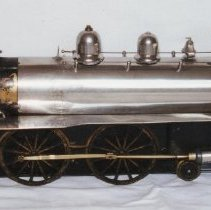 Image of McNair Live Steam Locomotive - McNair Live Steam Locomotive, circa 1910.  Donated by John Knapp.   Part of a set of five pictures, P2001.11.1 to 1d.
