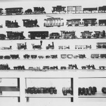 Image of Burton Logan Collection of Toy Trains - Photos of trains from TCA charter member, Burton Logan's collection.  See scanned image for detailed description.