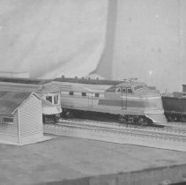 Image of Train Collection - Set of 14 pictures from a collection of unknown origin.  (P2008.2.1 to P2008.2.14)  This picture shows various HO gauge models, the same ones are shown in 2.1 & 2.2.