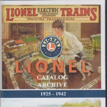 Image of Lionel Catalog Archieve 1925-1942 - This DVD includes all primary catalogs from 1925-42 and all mini catalogs, 1937-38 black and white catalogs and a 1937 hudson 5344 J-1E Catalog