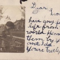 """Image of Lubing her up. - Young boy """"oiling"""" his HillClimber locomotive with a full sized railroad oil can."""