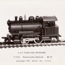 Image of Revell HO Gauge Catalog Pictures - Revell HO gauge 0-4-0 Yard Goat Switcher T-3650 Pennsylvania  Price $8.95