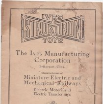 Image of Ives Struktiron Instruction Booklet - Ives Struktiron Toys.  The Ives Mfg. Corp.  Toy construction sets