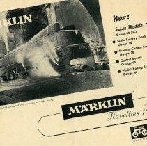 Image of Marklin Folder 1947 - Marklin Novelties 1947 folder in English.  OO Gauge trains and rolling stock.