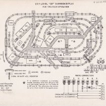 Image of Lionel 5 x 9 027 Showroom Display For Two-Train Operation - Track Plan,Lionel