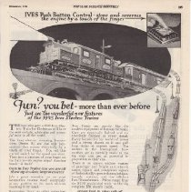 Image of Fun? You Bet- More Than Ever Before - Advertising Sheet, Ives Trains, Popular Science Monthly