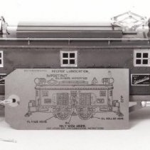 Image of Lionel No. 1680 Tank Car - An American Flyer Standard Gauge #4644, c. 1928-1933.  Includes a lubrication tag #97F-75M-8-30-C.T. CO