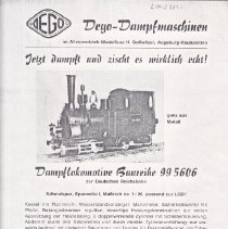 Image of  Dego-Dumpfmuschinen - Advertising Sheet, Dego-Dumpfmuschinen