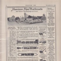 Image of American Flyer Railroads and Structo Hoisting Toys and Autos - Advertising Sheet, Hardware Age, American Flyer Railroads