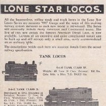 Image of Lone Star Locos, Complete 'OOO' Scale Railway Catalog - Catalog, Lone Star Locos, Complete 'OOO' Scale Railway