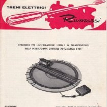 Image of Rivarossi Electric Train - Instruction Sheet, Rivarossi Electric Train + Turntables