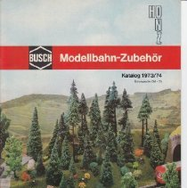 Image of Busch Model Train Accessories Catalog 1973/74 - Catalog, Busch , Model Train Accesories, 1973/74, HO-N-Z