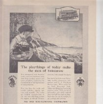 Image of The playthigs of today make the men of tomorrow - Advertising Sheet, The Ives Manufacturing Corporation, Ives Toys