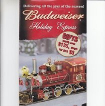 Image of Delivering all the joys of the season! BUDWEISER Holiday Express - Advertising Sheet, Hawthorne Village, BudweiserHoliday Express, On3 Train Set