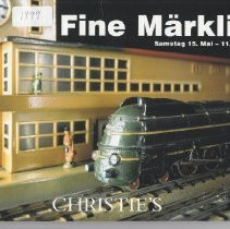 Image of Christies Fine Marklin - Catalog, Christies Fine Marklin