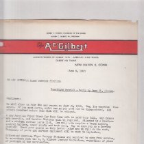 Image of T all American Flyer service stations... Something Special--Reply by June 24, Please - Correspondence, The A. C. Gilbert Co., All American Flyer Service Stations, American Flyer Stock Car Race Game