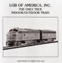 Image of EMD F7A A-B unit Diesel Locomotive  - LGB of America, Inc. EMD F7A A-B unit Diesel Locomotive Union Pacific #1464 in G gauge. 