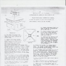 Image of Instructions for Assembling Fire House No, 611 - Instruction Sheet, The Schoenhut Manufacturing Co., Skyline Builder, Instruction for Assembling Fire House No. 611