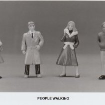 Image of People Walking - Life Like Products Promotional Photograph.  Four people walking in G scale, Item # 1174.