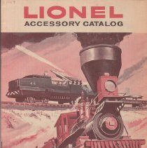 "Image of Lionel Accessory Catalog 1959 - Lionel Accessory Catalog, 1959.  Printed on newsprint.  Includes ""The General"" W&RR set, Santa Fe set, B&O set, Pennsylvania RR set, Alaska RR set, New Haven set, USMC set, Great Northern set.  Rolling stock and accessories."