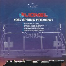 Image of Lionel Spring Preview Folder - Lionel 1987 Spring Preview folder.  Includes Conrail Ltd., track options, accessories.